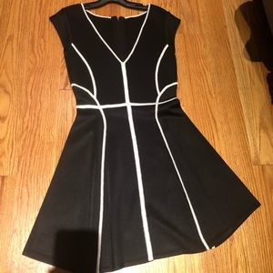 French connect black fit & flare dress size 8
